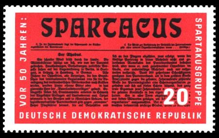 20 Pf Briefmarke: Reichskonferenz der Spartakusgruppe