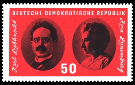 50 Pf Briefmarke: Reichskonferenz der Spartakusgruppe