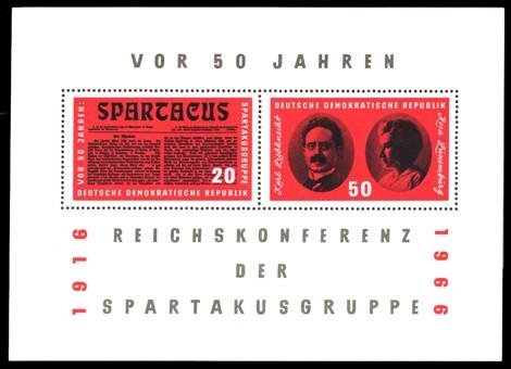 Briefmarke: Block: Reichskonferenz der Spartakusgruppe