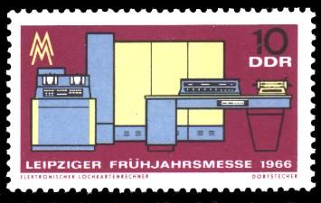 10 Pf Briefmarke: Leipziger Frühjahrsmesse 1966