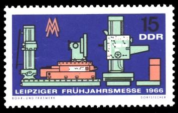 15 Pf Briefmarke: Leipziger Frühjahrsmesse 1966