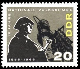 20 Pf Briefmarke: 10 Jahre NVA
