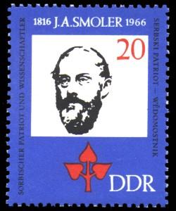 20 Pf Briefmarke: 150. Geburtstag J.A.Smoler