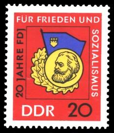 20 Pf Briefmarke: 20 Jahre FDJ