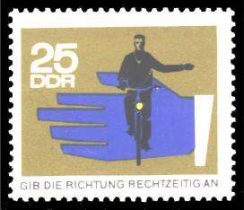 25 Pf Briefmarke: Straßenverkehr, Richtung