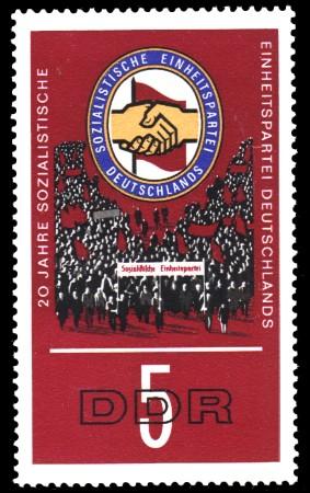 5 Pf Briefmarke: 20 Jahre SED