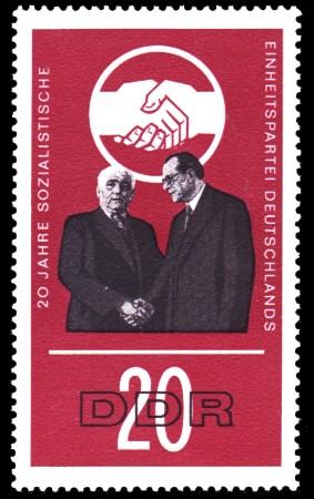 20 Pf Briefmarke: 20 Jahre SED