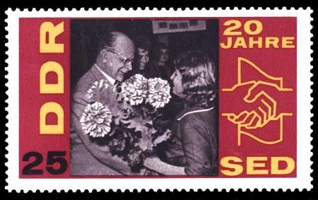 25 Pf Briefmarke: 20 Jahre SED
