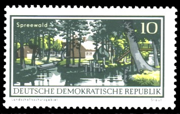 10 Pf Briefmarke: Natur- und Landschaftsschutzgebiete