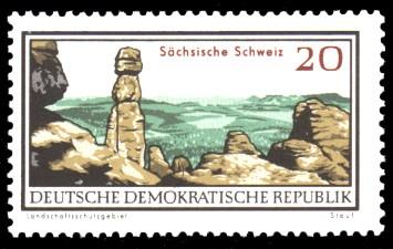 20 Pf Briefmarke: Natur- und Landschaftsschutzgebiete