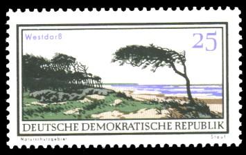 25 Pf Briefmarke: Natur- und Landschaftsschutzgebiete