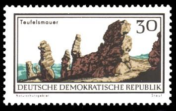 30 Pf Briefmarke: Natur- und Landschaftsschutzgebiete