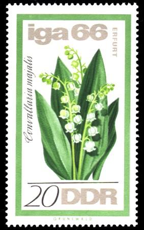 20 Pf Briefmarke: IGA 66, Maiglöckchen