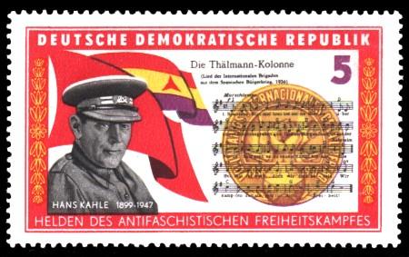 5 Pf Briefmarke: Helden des antifaschistischen Freiheitskampfes, Hans Kahle