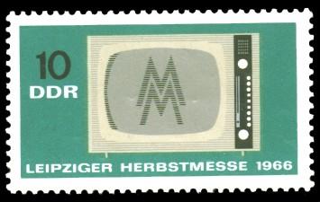 10 Pf Briefmarke: Leipziger Herbstmesse 1966