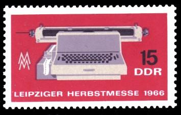 15 Pf Briefmarke: Leipziger Herbstmesse 1966