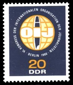 20 Pf Briefmarke: Kongress der Journalisten