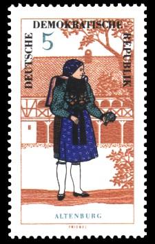 5 Pf Briefmarke: Volkstrachten in der DDR