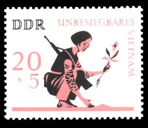 20 + 5 Pf Briefmarke: Unbesiegbares Vietnam