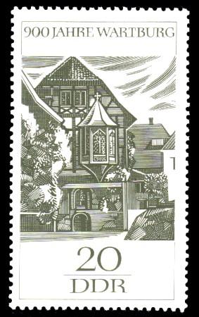 20 Pf Briefmarke: 900 Jahre Wartburg