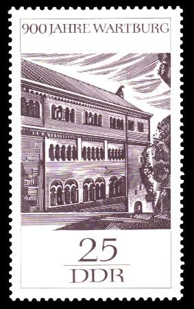 25 Pf Briefmarke: 900 Jahre Wartburg