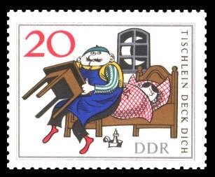 20 Pf Briefmarke: Märchen 'Tischlein deck dich'