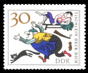 30 Pf Briefmarke: Märchen 'Tischlein deck dich'