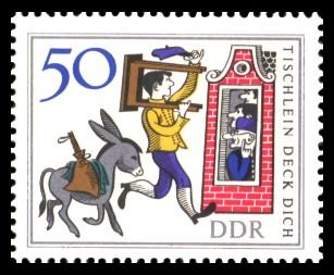 50 Pf Briefmarke: Märchen 'Tischlein deck dich'