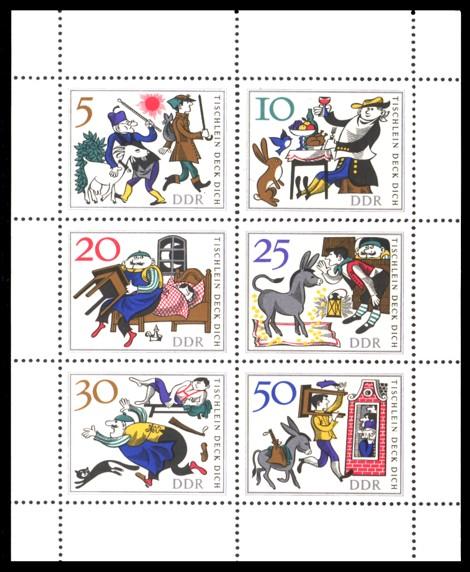 Briefmarke: Märchen-Kleinbogen 'Tischlein deck dich'