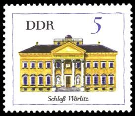 5 Pf Briefmarke: Bedeutende Bauten, Schloß Wörlitz