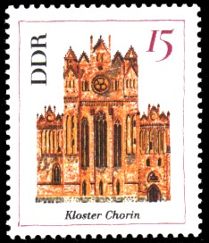 15 Pf Briefmarke: Bedeutende Bauten, Kloster Chorin