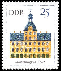 25 Pf Briefmarke: Bedeutende Bauten, Moritzburg
