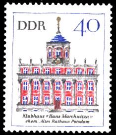 40 Pf Briefmarke: Bedeutende Bauten, Altes Rathaus Potsdam