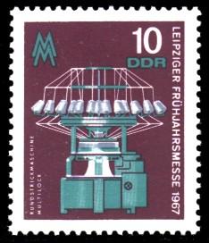 10 Pf Briefmarke: Leipziger Frühjahrsmesse 1967