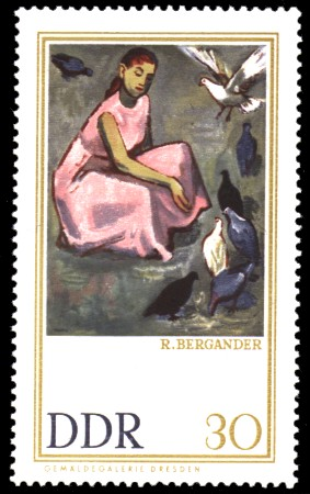 30 Pf Briefmarke: Gemäldegalerie Dresden