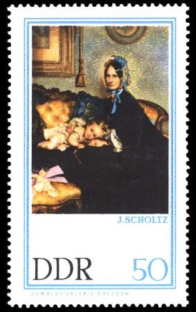 50 Pf Briefmarke: Gemäldegalerie Dresden