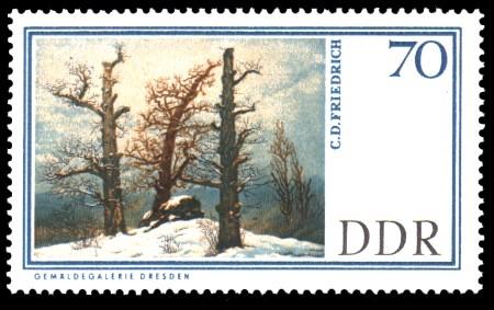 70 Pf Briefmarke: Gemäldegalerie Dresden