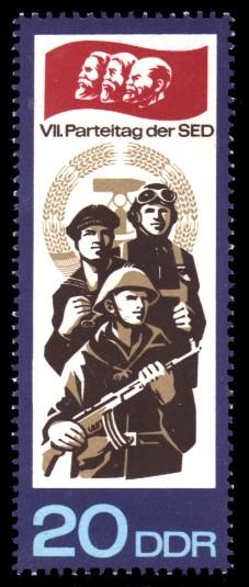 20 Pf Briefmarke: VII. Parteitag der SED