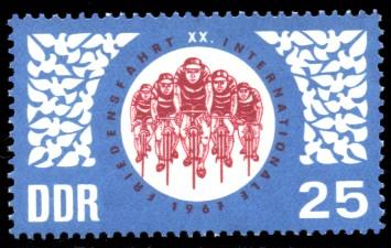 25 Pf Briefmarke: 20. Internationale Friedensfahrt