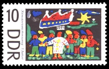 10 Pf Briefmarke: Kinderzeichnungen, Schneewittchen