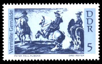 5 Pf Briefmarke: Vermißte Gemälde, Drei Reiter