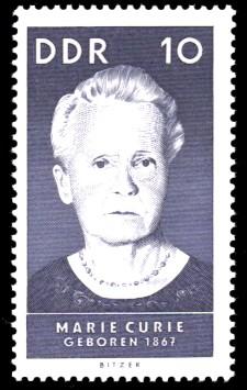 10 Pf Briefmarke: Bedeutende Persönlichkeiten, Marie Curie