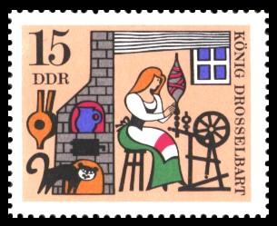 15 Pf Briefmarke: Deutsche Märchen, König Drosselbart