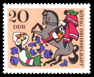 20 Pf Briefmarke: Deutsche Märchen, König Drosselbart