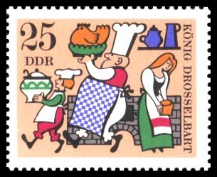 25 Pf Briefmarke: Deutsche Märchen, König Drosselbart