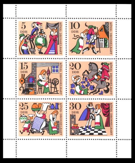 Briefmarke: Kleinbogen - König Drosselbart