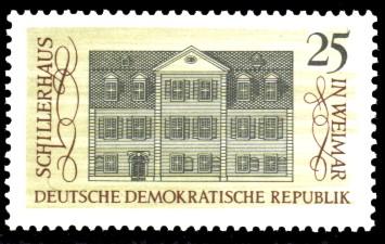 25 Pf Briefmarke: Stätten des klassischen Humanismus, Schillerhaus