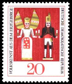 20 Pf Briefmarke: Volkskunst aus dem Erzgebirge