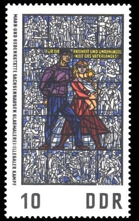 10 Pf Briefmarke: Glasmalerei