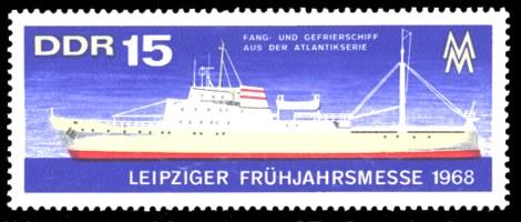 15 Pf Briefmarke: Leipziger Frühjahrsmesse 1968